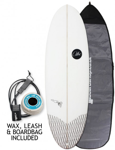 ABC Fire Squid surfboard package 5ft 9 - White