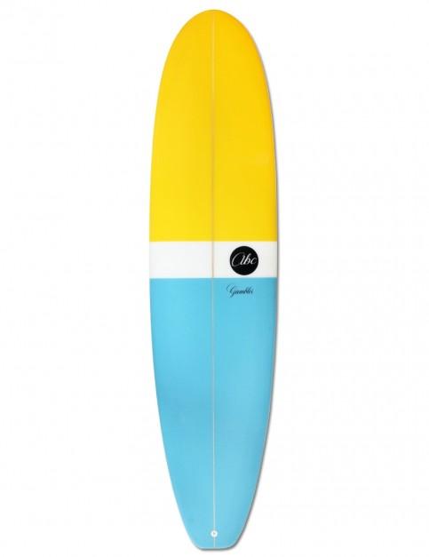 ABC Gambler surfboard 7ft 6 - Blue/Yellow