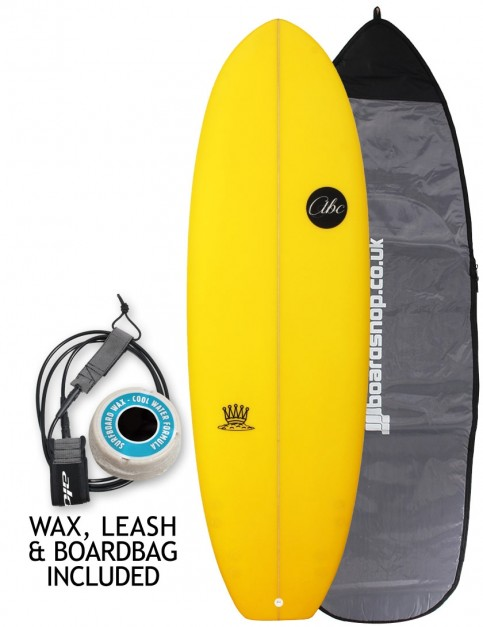 ABC Mash King surfboard package 5ft 10 - Yellow