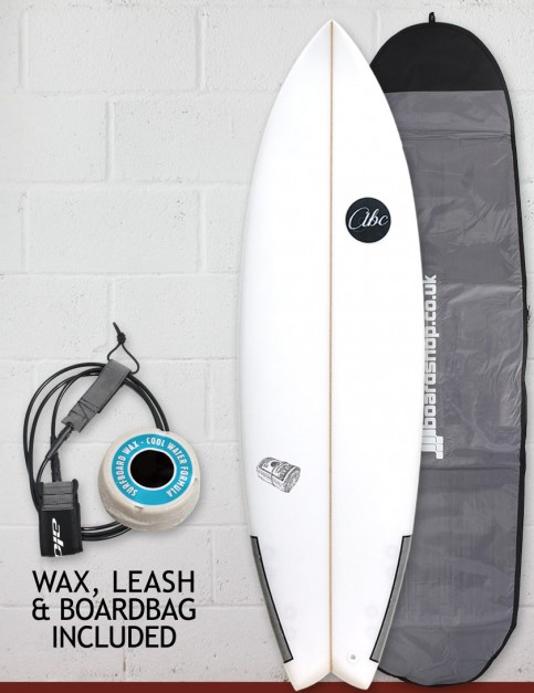 ABC Payroll surfboard package 6ft 1- White