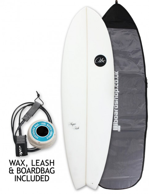 ABC Super Fish surfboard package 6ft 6 - White