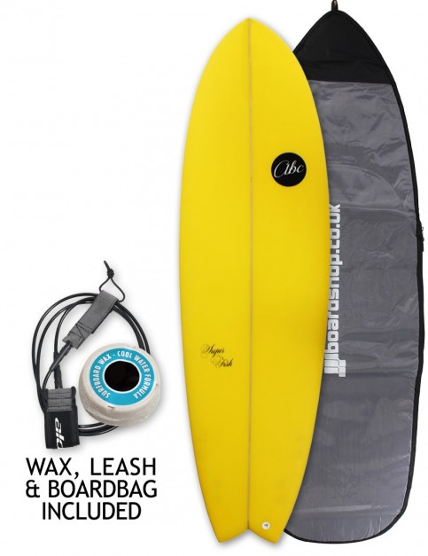 ABC Super Fish surfboard package 6ft 6 - Citrus Yellow