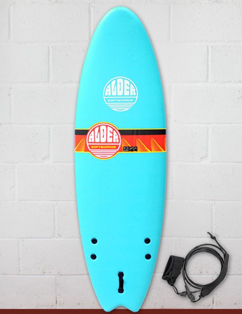 Alder Comp Fish Foam Kids Surfboard 5ft 6 - Sky Blue