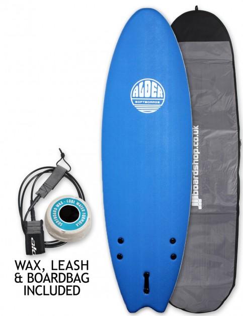 Alder Comp Fish Soft Surfboard Package 6ft 0 - Royal Blue