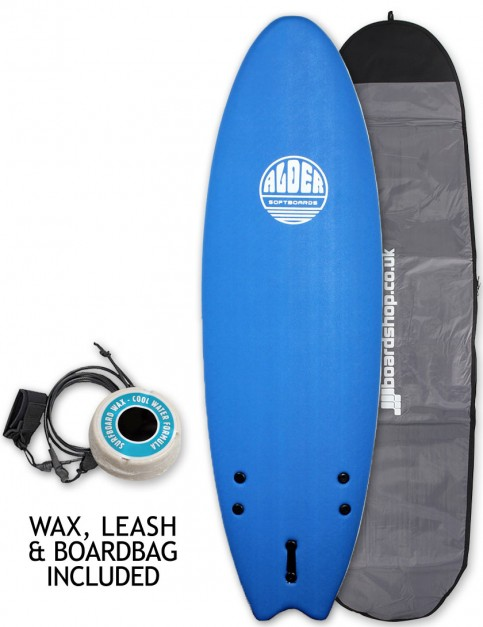 Alder Comp Fish Soft Surfboard Package 6ft 0 - Royal Blue