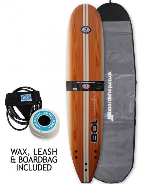 California Board Company Classic 108 Package Surfboard 9ft - Brown Grain
