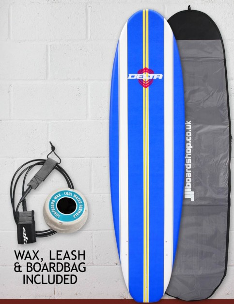 Alder Delta Stringers Package Soft surfboard 7ft - Blue Stripe