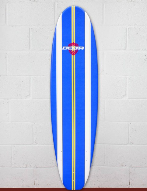 Alder Delta Stringers Soft Surfboard 7ft 6 - Blue Stripe