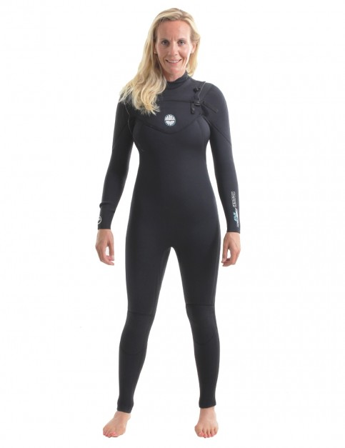 Alder Ladies Pyrotech Chest Zip 5/4/3Wetsuit 2018 - Black