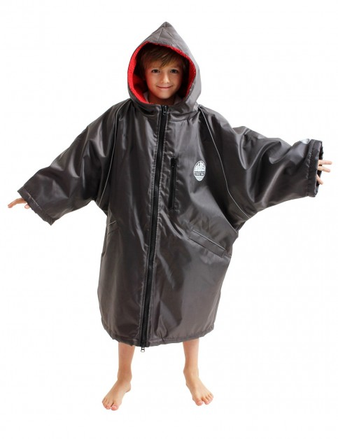 Alder Polar Coat Medium (small adult/kid) outdoor change robe - Black