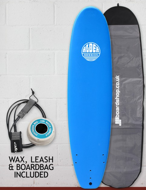 Alder Session Soft/Hard Surfboard Package 7ft 2 - Blue