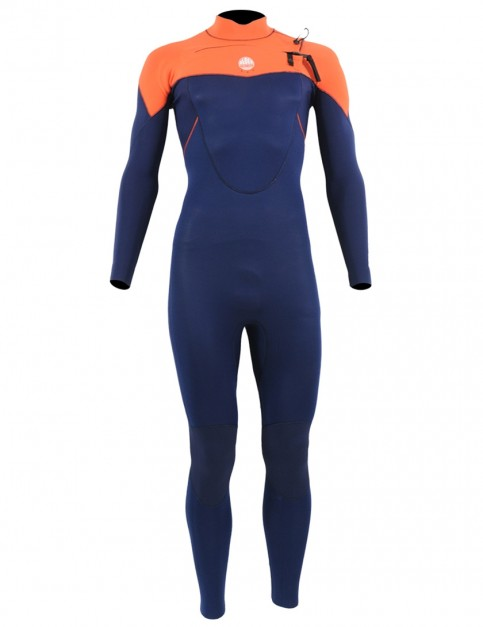 Alder Boys Stealth 5/4/3mm Wetsuit 2018 - Navy/Orange