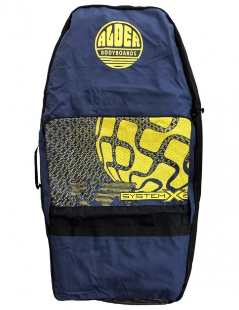 Alder System X2 44 inch Two Board Bodyboard bag - Navy/Yellow