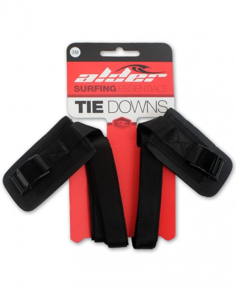Alder Tie Down 3 Metre roof rack straps (pair) - Black