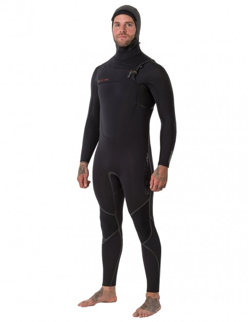 Animal Assassin V2 6/4mm hooded wetsuit 2019 - Black