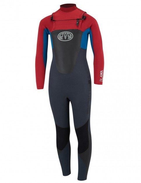 Animal Boys Lava Chest Zip 4/3mm Wetsuit 2018 - Rich Red