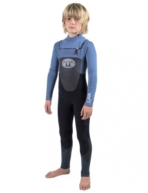 Animal Boys Lava Chest Zip 5/4/3mm wetsuit 2019 - Pewter