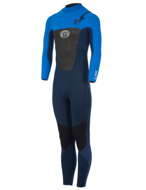 Animal Lava Chest Zip 4/3mm wetsuit 2018 - Dark Navy
