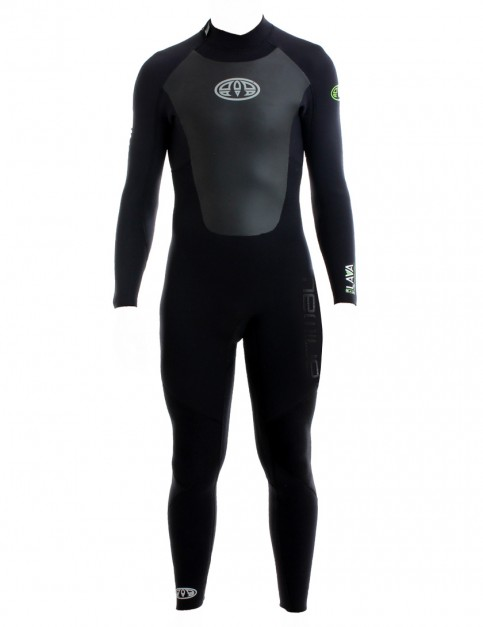 Animal Lava Back Zip 5/4/3mm Wetsuit 2017 - Black