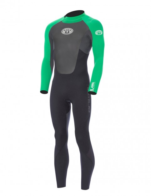 Animal Lava Back Zip 3/2mm Wetsuit 2017 - Bright Green