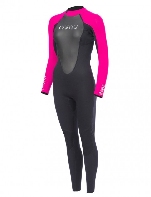 Animal Ladies Nova 3/2mm wetsuit 2017 - Indian Berry Pink
