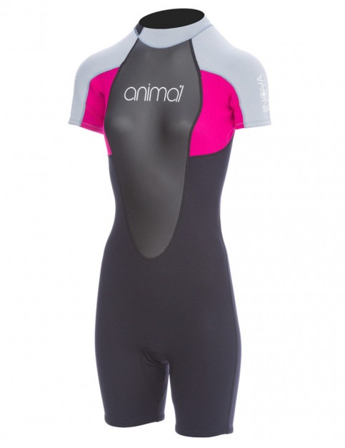 Animal Ladies Nova 3/2mm Shorty wetsuit 2017 - Indian Berry Pink