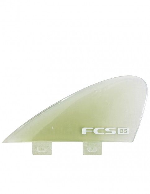 FCS B5 Bonzer PG Quad Fins Medium - Clear