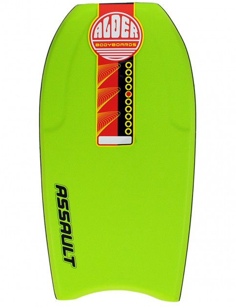 Alder Assault Bodyboard 44 inch - Lime Green