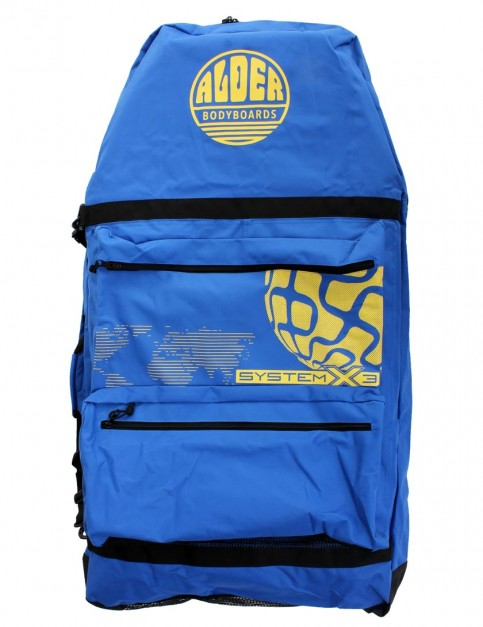 Alder System X3 44 inch Three Board Bodyboard bag - Blue/Yellow