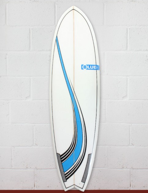 Blue Dot Fish surfboard 6ft 3 - Blue Swirl