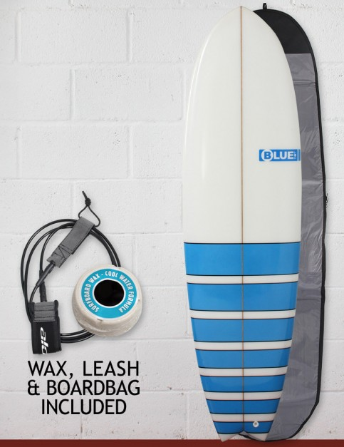 Blue Dot Fish Surfboard Package 6ft 3 - Light Blue Bars