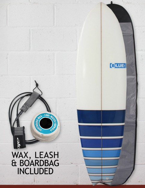 Blue Dot Fish Surfboard Package 6ft 6 - Blue Fade Bars