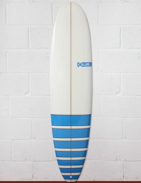 Blue Dot Mini Mal Surfboard 8ft 0 FCS - Blue Stripes