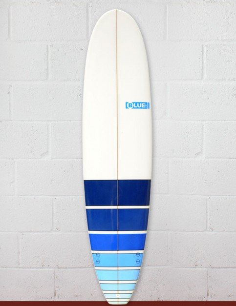 Blue Dot Mini Mal Surfboard 7ft 4 - Blue Fade Bars