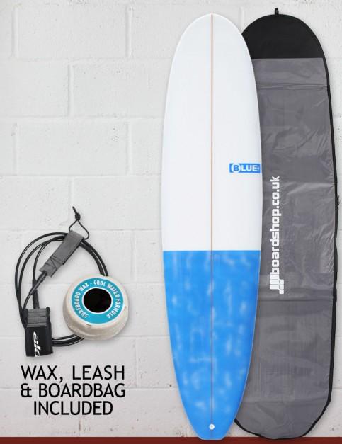 Blue Dot Mal Surfboard Package 9ft 0 - Dappled Blue