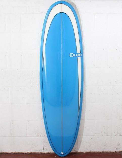 Blue Dot Retro Rug Surfboard 7ft 0 - Blue