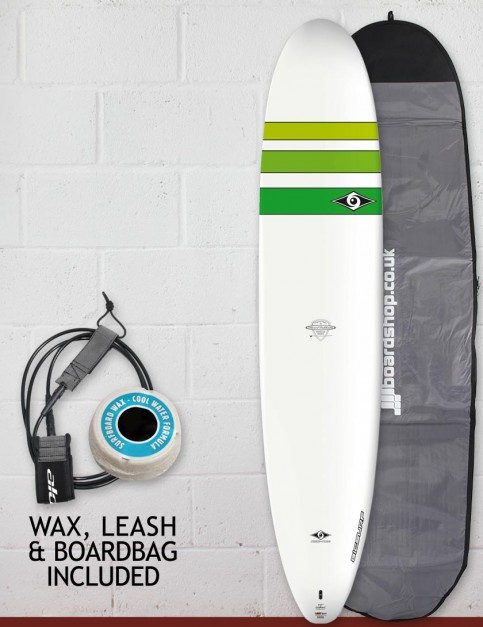 Bic ACE-TEC Classic Longboard Surfboard Package 9ft 0 - Green