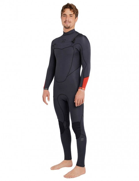 Billabong Absolute Comp Chest Zip 4/3mm Wetsuit 2018 - Asphalt