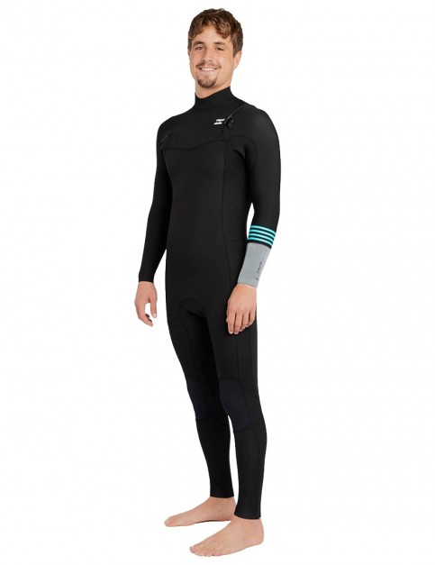 Billabong Revolution Tri Bong Chest Zip 4/3mm Wetsuit 2018 - Black 2
