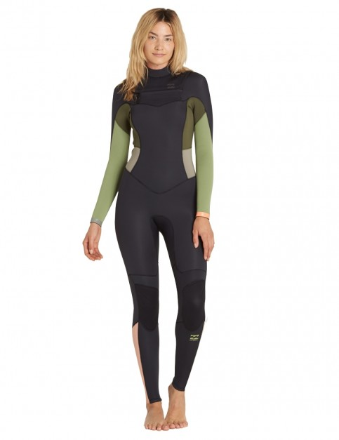 Billabong Ladies Synergy Chest Zip 5/4mm wetsuit 2018 - Green Tea