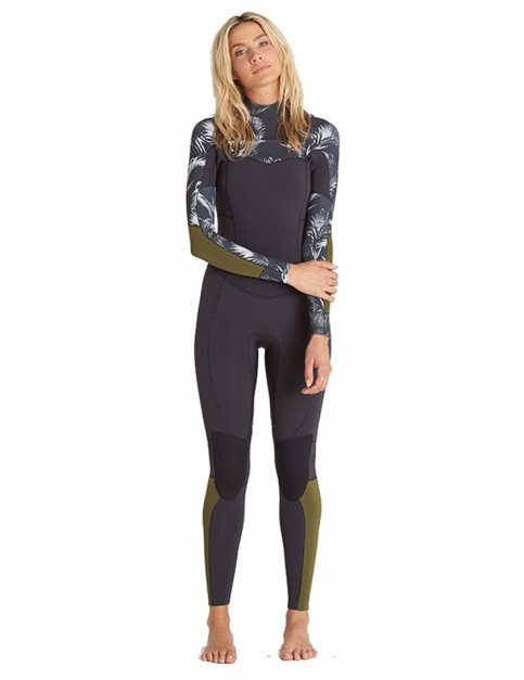 Billabong Ladies Salty Dayz Chest Zip 5/4mm wetsuit 2018 - Black Sands