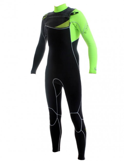 Body Glove PRIME Chest Zip 3/2mm Wetsuit - Lime Black