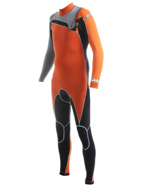 Body Glove PRIME Chest Zip 3/2mm Wetsuit - Black/Orange