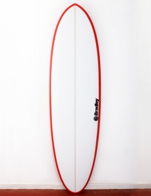 Bradley Mr Bean surfboard 6ft 10 FCS II - Red
