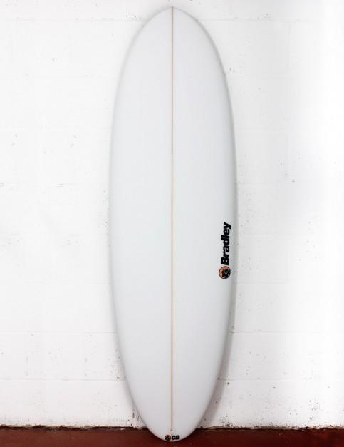 Bradley Mr Bean surfboard 6ft 4 FCS II - White
