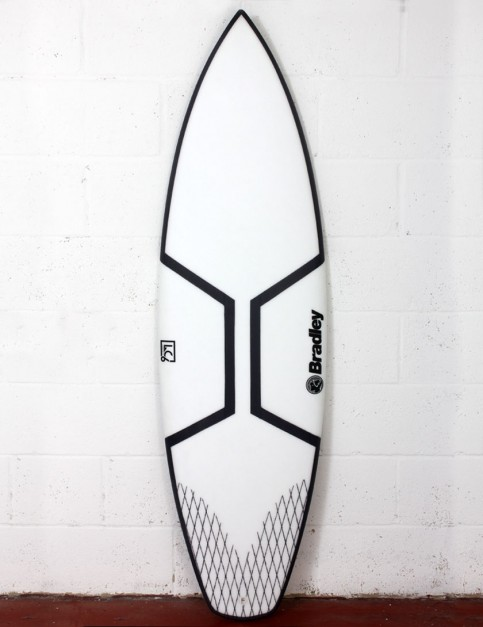 Bradley LC6 Gladiator surfboard 5ft 11 Futures - White