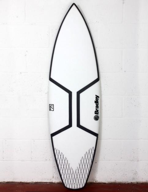 Bradley LC6 Gladiator surfboard 6ft 1 Futures - White