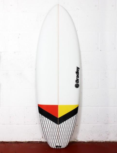 Bradley New Barcelona surfboard 5ft 6 FCS II - White