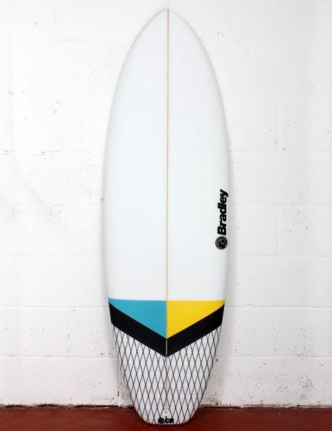 Bradley New Barcelona surfboard 5ft 6 FCS II - Blue/Yellow
