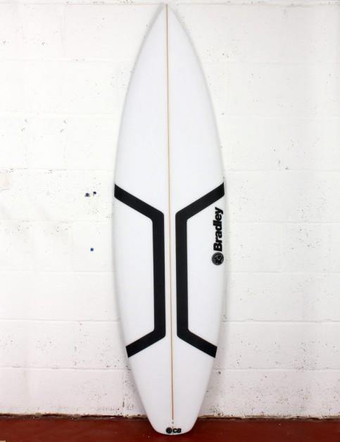 Bradley Roman surfboard 6ft 1 FCS II - White